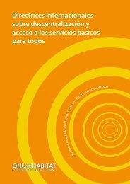 Directrices internacionales sobre descentralización y ... - UN-Habitat