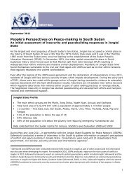 People's Perspectives on Peace-making in South Sudan