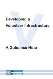 Developing a Volunteer Infrastructure