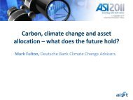 Carbon, climate change and asset allocation – what does the future ...