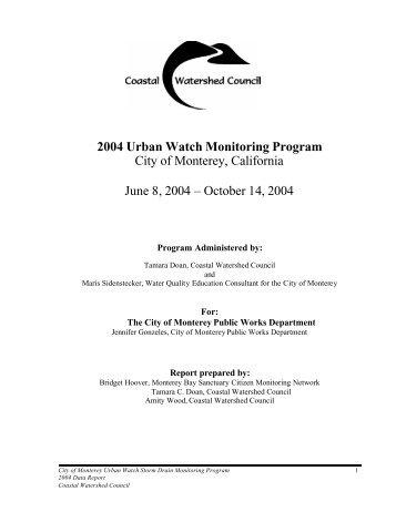 2004 Urban Watch Report - Coastal Watershed Council