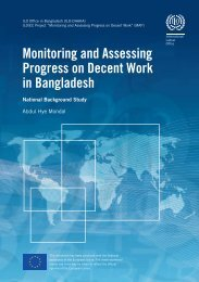 Monitoring and Assessing Progress on Decent Work in Bangladesh