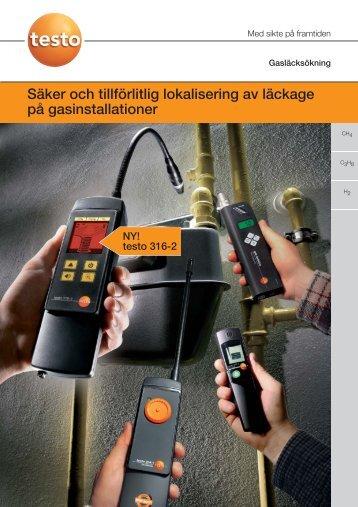 Säker och tillförlitlig lokalisering av läckage på gasinstallationer