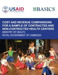Cost and Revenue Comparisons for a Sample of Contracted ... - basics
