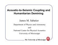 Acoustic-to-Seismic Decoupling and Humanitarian Deming