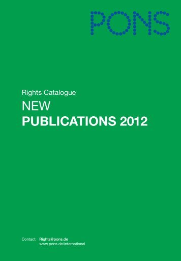 New Publications 2012 Dictionaries and Self-Study