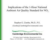 Cambridge Environmental Inc - Home for the New York Federation ...