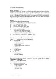 DLI02 Life Insurance Law - Singapore College of Insurance