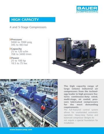 High Capacity - BAUER Compressors