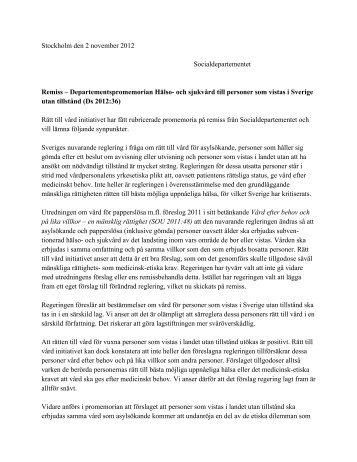 Läs hela remissvaret (pdf, öppnas i nytt fönster)