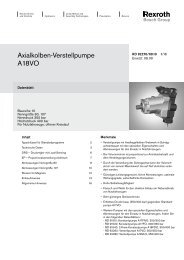 Axialkolben-Verstellpumpe A18VO - Group VH A/S