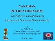 CANADIAN INTERNATIONALISM ... - Dr. Walter Dorn