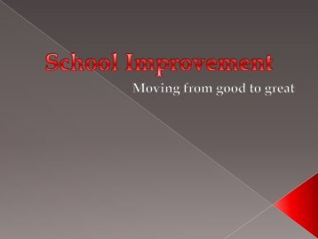 School Improvement vwms ppt
