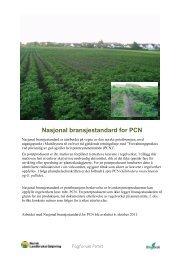 Nasjonal bransjestandard for PCN - Fagforum Potet