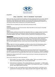 Oral Cancer Risk Factors Prevention Fact Sheet (PDF)