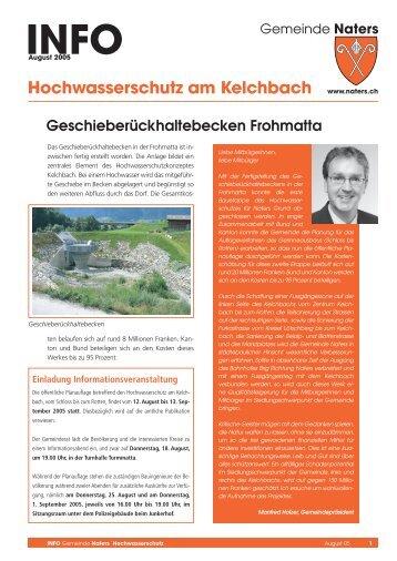 Hochwasserschutz am Kelchbach - Gemeinde Naters