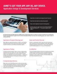 Avnet ESSG App Design and Development Service Brief