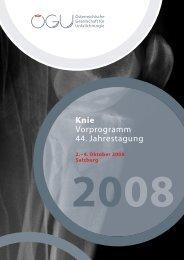 Knie Vorprogramm 44. Jahrestagung - Österreichische Gesellschaft ...