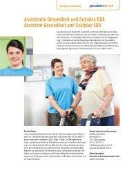 Assistentin Gesundheit und Soziales EBA Assistent Gesundheit und ...