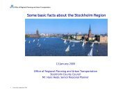 Some basic facts about the Stockholm Region