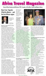 Africa Travel Magazine - air highways - magazine of open skies ...