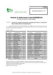 Deliberazione n. 5 del 24.04.2012 - Comunità Montana Valle Seriana
