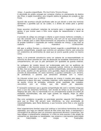 Artigo - A guarda compartilhada - Por José Carlos Teixeira ... - Recivil