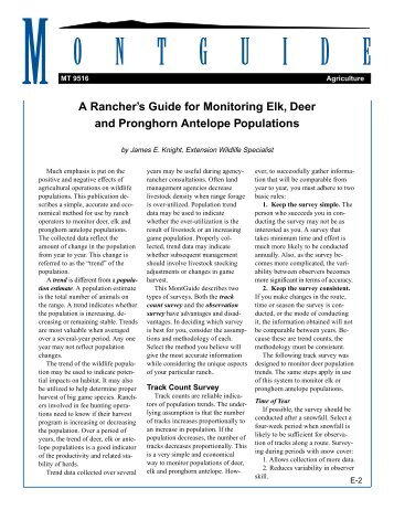 A Rancher's Guide for Monitoring Deer, Elk and Pronghorn Antelope ...