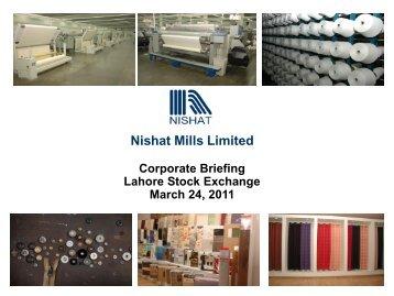 Nishat Mills Limited - Lse.com.pk