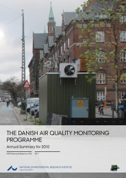 The Danish Air Quality Monitoring Programme - Danmarks ...