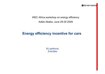 Energy efficiency incentive for cars - World Energy Council