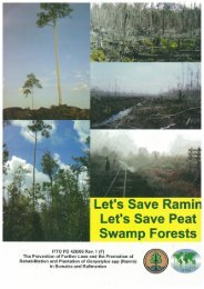 Let's Save Ramin Let's Save Peat Swamp Forests - ITTO