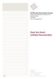 Check Your Stand: Leitfaden Messestandbau - CCC Werbeagentur