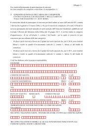 Allegato A (Fac-Simile Domanda) - Carabinieri