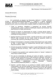 Circular Forponto - Intranet - IMA Instituto Mineiro de Agropecuária
