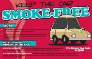 smoke free car postcard - Scott County, Iowa