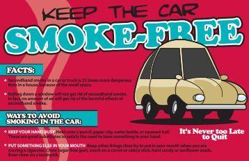 smoke free car postcard - Scott County, Iowa