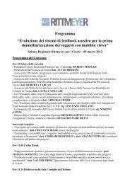 Programma Convegno 9 marzo 2012 - Istituto Regionale Rittmeyer ...
