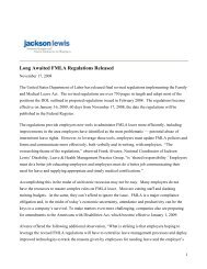 Long Awaited FMLA Regulations Released - Group Benefits