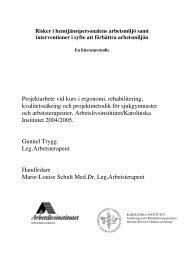 Projektarbete vid kurs i ergonomi, rehabilitering ... - Lunds universitet