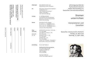 Dramen unterrichten - Fachverband Deutsch