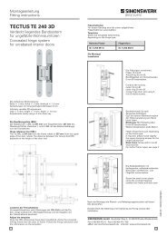 TECTUS TE 240 3D - TECTUS Concealed Hinges from Simonswerk