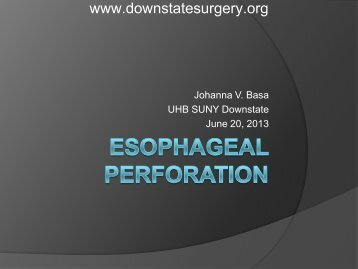 Esophageal Perforation