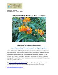 2010 Fall Guide to All Things Bees and Honey in Greater ...