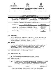 SOP 1000 v.03 - Translation of Research Documents - The Ottawa ...