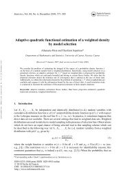 Adaptive quadratic functional estimation of a weighted density by ...