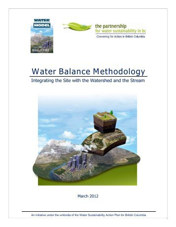 Water Balance Methodology - Waterbucket