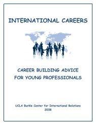 INTERNATIONAL CAREERS - UCLA International Institute