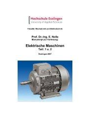 Elektrische Maschinen Teil: 1 u. 2