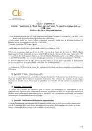 Décision CPE Lyon - Commission des Titres d'Ingénieur